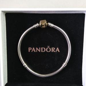 Jewelry - NWOT 14KGold/Silver Pandora Moments Chain Bracelet